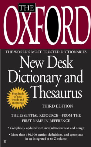 Oxford New Desk Dictionary And Thesaurus (SKU 10538210106)