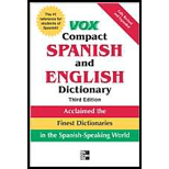 Vox Compact Spanish & English Dictionary (SKU 10447697106)