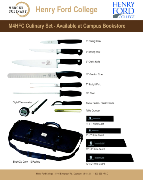 Mercer Culinary Knife Set (SKU 10605301115)
