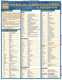 Medical Abbreviations (Not Returnable) 7001